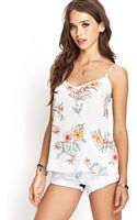 Forever 21 Floral Woven Cami - Lyst