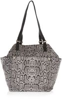 River Island Grey Leather Snake Print Tote Bag - Lyst