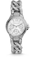 Michael Kors Mini Camille Pavéembellished Stainless Steel Watch - Lyst