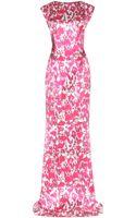Mary Katrantzou Printed Silksatin Gown - Lyst