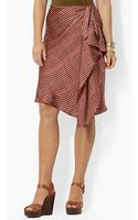 Ralph Lauren Lauren Striped Sarong Skirt - Lyst