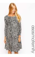 Asos Maternity Skater Dress with Slash Neck in Animal Print - Lyst