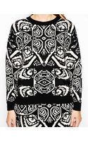 Asos Curve Exclusive Jumper in Monochrome Print - Lyst