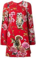 Dolce & Gabbana Enchanted Forest Shift Dress - Lyst