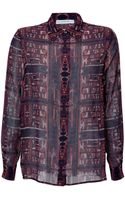 Mary Katrantzou Silk Printed Blouse - Lyst