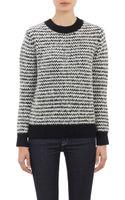 Barneys New York Stripe Bouclé Sweater - Lyst