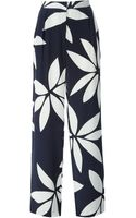 Issa Front Pleat Flower Print High Waisted Trousers - Lyst