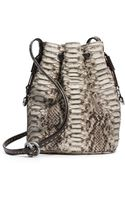 Michael Kors Julie Drawstring Python Small Crossbody - Lyst