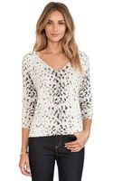 Joie Brooklyn Animal Print Sweater - Lyst