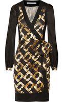 Diane Von Furstenberg Laila Printed Silk Wrap Dress - Lyst