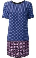 Victoria, Victoria Beckham Geometric Print Shift Dress - Lyst