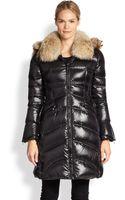 Dawn Levy Chloe Fur-trimmed Puffer Coat - Lyst