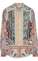 Etro Printed Silk and Woolblend Shirt - Lyst