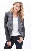 Forever 21 Faux Leather-sleeve Marled Jacket - Lyst