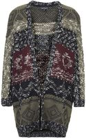 Topshop Womens Patterned Slouchy Cardigan Multi - Lyst