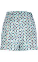 River Island Turquoise Tile Print Shorts - Lyst