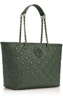 Tory Burch Marion Quilted Small Tote - Lyst