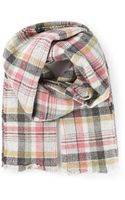 Isabel Marant Checked Scarf - Lyst