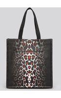 McQ by Alexander McQueen Tote Leopard Print Shopper - Lyst
