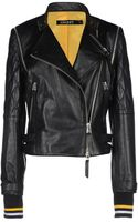 DKNY Leather Outerwear - Lyst
