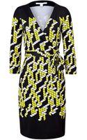 Diane Von Furstenberg City Placement New Julian Silk Wrap Dress - Lyst