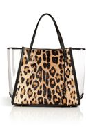 Ermanno Scervino Haircalf Tote with Clear Paneling - Lyst