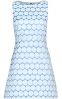 Alice + Olivia Tamara Jacquard Mini Dress - Lyst