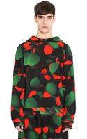 Christopher Kane Atom Printed Hooded Cotton Sweatshirt - Lyst