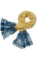 Tory Burch Printed Crochet T Logo Scarf - Lyst