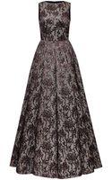 Rochas Metallic Jacquard Gown - Lyst