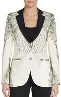 Haute Hippie Feather-print Silk Jacket - Lyst