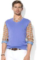 Ralph Lauren Polo V Neck Pima Cotton Sweater Vest - Lyst