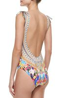 Camilla Printed Vneck Onepiece Swimsuit - Lyst