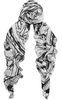 McQ by Alexander McQueen Manga Printed Modal Scarf - Lyst