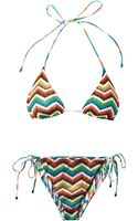Missoni Mare Reversible Zigzag-knit Triangle Bikini - Lyst