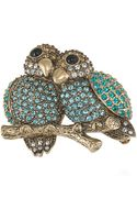 Carolee Lovebirds Pin - Lyst