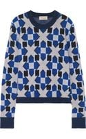 Temperley London Lia Jacquardknit Merino Wool and Cashmere-blend Sweater - Lyst