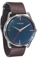 Nixon Mellor Navy and Brown Watch - Lyst