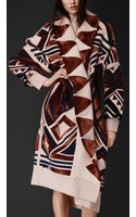 Burberry Geometric Knit Blanket Coat - Lyst