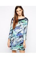 American Retro Marlon Printed Dress - Lyst