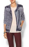 Splendid Quilted Fleece Jacket - Lyst