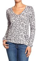 Old Navy Leopard Print V-Neck Sweaters - Lyst