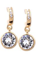 Givenchy Goldtone Swarovski Crystal Drop Earrings - Lyst