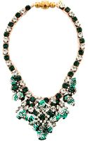 Shourouk Theresa Mini-sequin and Crystal Necklace in Green - Lyst