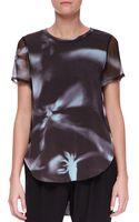 3.1 Phillip Lim Printed Split-hem T-shirt - Lyst