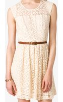 Forever 21 Ditsy Lace Fit Flare Dress - Lyst