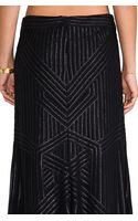 Rachel Zoe Pearl Sequin Maxi Skirt in Black - Lyst