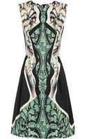 Peter Pilotto Alexa Printed Silkjaquard Dress - Lyst