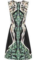 Peter Pilotto Alexa Printed Silkjaquard Dress - Lyst