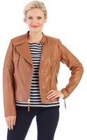 MICHAEL Michael Kors Leather Moto Jacket - Lyst